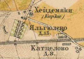 План деревни Яльгелево. 1885 г.