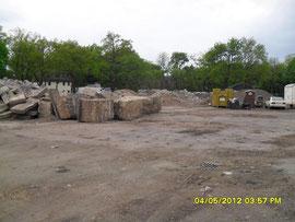 W-gefundenen Großfundamente im BF Weiss 04.05.2012