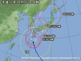 これからの季節に気になる 台風の進路