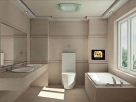 シンプルで機能的で美しいbathroom  いつかはこうなるように思えます