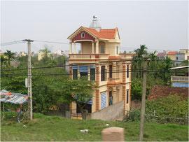 ベトナム郊外の3階建て住宅  3階の用途がよく分かりません