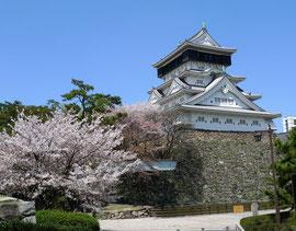 桜が綺麗なことでも有名な小倉城