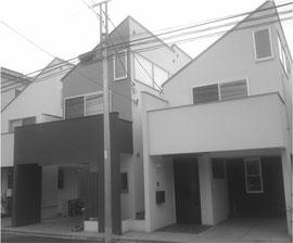都内の3階建て建て売り住宅(写真は加工してあります)