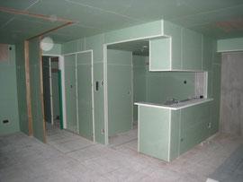 新築マンションの内部下地 ここまで大工なしです