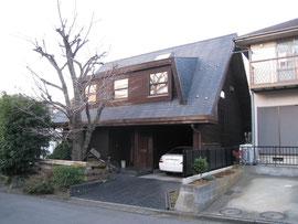 近所で見つけた、木造外壁の山小屋風の住宅