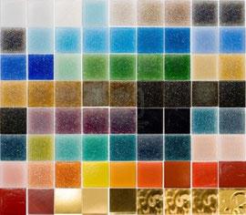カラフルなガラスのタイル