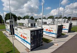 Power to Gas Anlage Stromspeicherung ins Gas Netz per Elektrolyse Bildquelle Eon