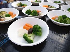 素材の味わいが楽しめる色鮮やかな温野菜