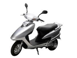 テラモーターズという会社の電動バイク。10万円以下という低価格を実現した