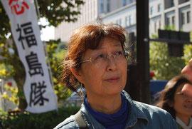 ハイロアクションの武藤類子さんは、原発や放射能に不安を抱える女性たちが孤立しないで連帯することを呼びかける
