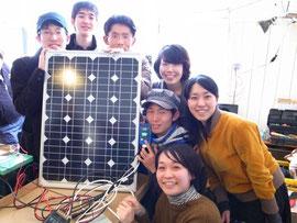太陽光発電システム完成後にみんなでパシャリ!