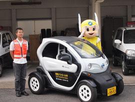 神奈川県警察本部が認定する防犯ボランティア組織、神奈川防犯シーガル隊青パト隊で活用されている超小型モビリティ