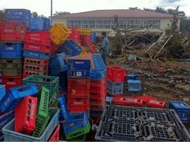 廃プラスチック回収の様子