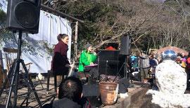 2月16日に神奈川県逗子市の里山「SYOKU-YABO農園」で開催されたツアー。提供:ナマケモノ倶楽部
