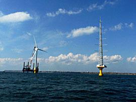 設置が完了した洋上風力発電設備 ©新エネルギー・産業技術総合開発機構