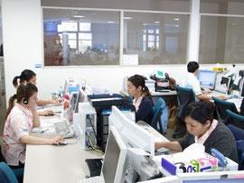沖縄県のテクノ・サテライト・オフィス内にあるカスタマーサービスセンター