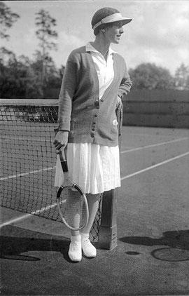 La tenista Helen Wills Moody