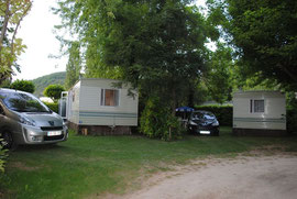 Camping *** Le Moulin des Donnes, Lot, les mobil-homes
