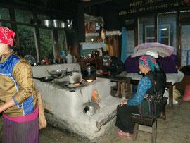 Küche in Langtang