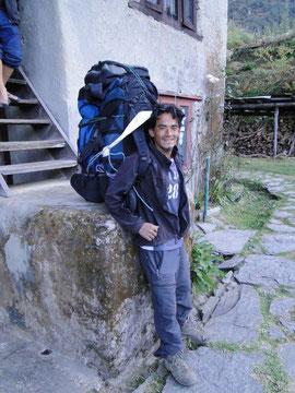 Milan mit Gepäck