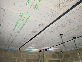 air tightness membrane for straight ceilings
