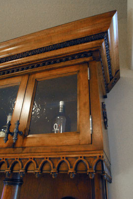 Gothic wine hutch detail