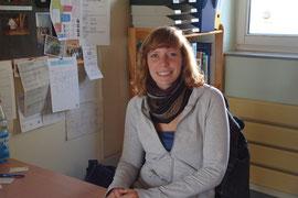 Johanna Weicker an ihrem Arbeitsplatz