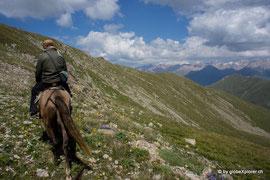 Roy mit seinem kirgisischen, treuen Pferd