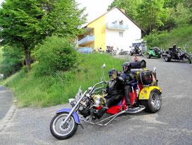 Motoradfahrer in der Fränkischen Schweiz