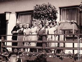 Einweihung des Kindergartenneubau 1956