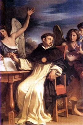 """Guercino, """"S. Tommaso sorretto dagli angeli""""  (1662)"""