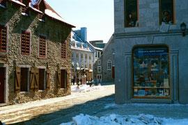 Place Royale in Québec, der älteste Platz Nordamerikas, ab 1608