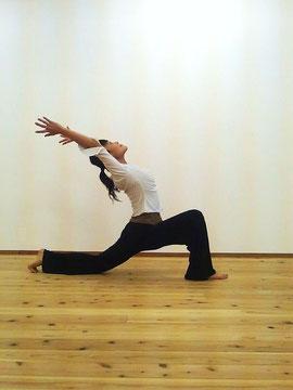 Yoga pose : Crescent moon