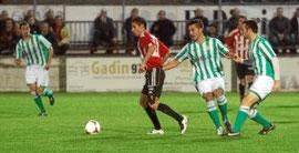 Sergio anotó el gol de la UD Logroñés.
