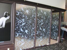 擦りガラス調プリントシート ©KAZUI-KANBAN
