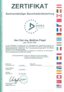 DEKRA Zertifizierung (klicken zum Vergrößern)