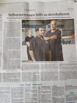 Bericht Weser Kurier /Delmenhorster Anzeiger
