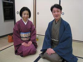 可笑(市川笑三郎)先生と初紫乃先生