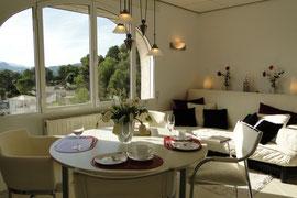 Ferienwohnung Valencia, Villa Gandia Hills, Wohnzimmer der Ferienwohnung, www.ferienwohnung-valencia.com