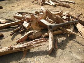 Le bois nécessaire à la cuisson