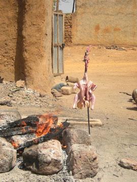 Le poulet sacrifié aux dieux du feu