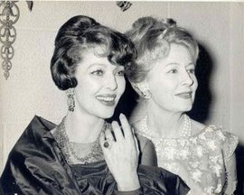 1963 Irene with close friend Loretta Young