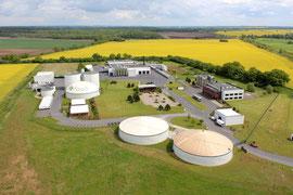 Entsorger SARIA , ein Luftbild aus Malchin - Mecklenburg Vorpommern