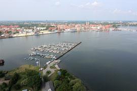 Hafen Stralsund Luftbild  Mecklenburg Vorpommern Rügen