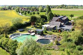 Luftbild Ferienhaus Sommerwind in Grabnitz - Klink Müritz