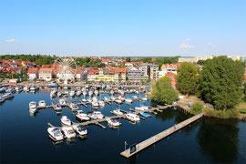 Hotel Hafen Waren Müritz - Hafenneubau Luftbild