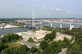 Gewerbe Stralsund - Rügenbrücke Luftbild Rügen Mecklenburg Vorpommern