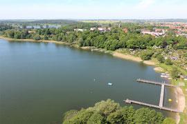 Badesee Neukloster - aus der Luft - Imagekampagne   Luftbild Mecklenburg-Vorpommern