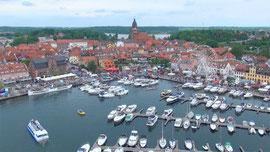 Luftbild vom Hafen in Waren Müritz 2014