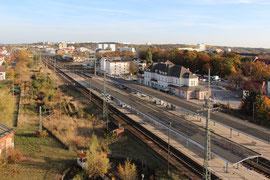 Bahnhof -  Neubrandenburg MecklenburgVorpommern Luftbild für Architekten